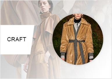 混合材質拼接--女裝皮衣皮草工藝趨勢