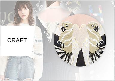 多彩的性格工藝--女裝毛衫工藝趨勢