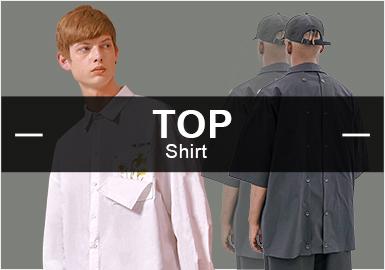 3月份款式库中衬衫单品流行方向分析,整体风格依旧偏向于时?#34892;?#38386;男装款式,其中商务休闲款式有所上升,而在元素类别下格纹、条纹等元素占据主导地位,随着天气的变化,短袖衬衫?#37096;?#22987;陆续出现。拼接设计依然受到市场的青睐,印花、文字等设计元素也有上升趋势。