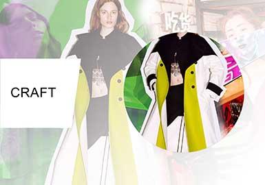 拼接解構--女裝大衣工藝趨勢