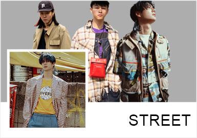 2019春夏男士們的穿搭依舊比較惹眼,復古的西服穿搭、街頭牛仔單品的著裝風格、時尚機能單品的實用性能以及層次感疊穿,都能夠凸顯出潮人們的特立獨行。