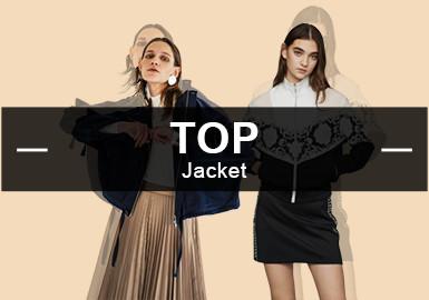 4月份款式庫中夾克單品流行方向分析,運動休閑類款式占比36%,簡約中淑類依舊是市場關注的一個重點,達到了30%的比例。拼接是應用量最大的工藝,占總數的40%。