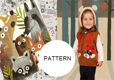 丛林动物--童装图案趋势