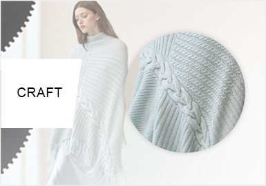 多變絞花--女裝毛衫工藝趨勢