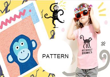 可愛猴子--童裝圖案趨勢