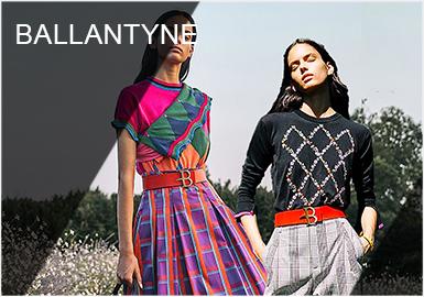 Ballantyne是苏格兰拥有百年历史的设计师品牌,以高超嵌花技术,精湛工艺的手工针织品闻名世界,钻石菱格是其的经典标志。在品牌不断探索下,已从沉稳的无彩色中淑风格逐渐变得亮彩和年轻,创造出更活泼的羊绒单品,动物提花是每季都有的设计元素,能够在完美保留品牌的苏格兰根基下,展现出鲜艳色调搭配经典格纹的英式美学。2019春夏整体风格张扬热烈,同时又保持了简洁利落,极具Ballantyne风格。