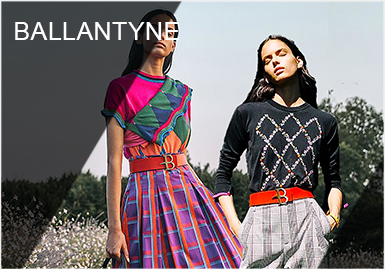 Ballantyne是蘇格蘭擁有百年歷史的設計師品牌,以高超嵌花技術,精湛工藝的手工針織品聞名世界,鉆石菱格是其的經典標志。在品牌不斷探索下,已從沉穩的無彩色中淑風格逐漸變得亮彩和年輕,創造出更活潑的羊絨單品,動物提花是每季都有的設計元素,能夠在完美保留品牌的蘇格蘭根基下,展現出鮮艷色調搭配經典格紋的英式美學。2019春夏整體風格張揚熱烈,同時又保持了簡潔利落,極具Ballantyne風格。