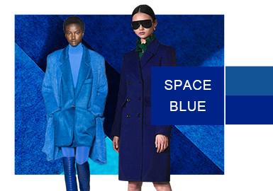 空間藍--女裝色彩演變