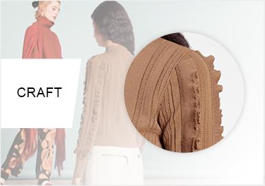 袖間舞蹈--女裝毛衫工藝趨勢