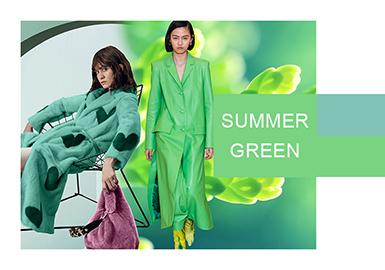 夏日綠--女裝色彩演變