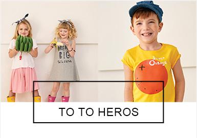 ToTo heros是一個來自于韓國的時尚童裝品牌。品牌主張簡單而自然的搭配方式,致力于打造舒適、經典、實用的產品。TOTO HEROS 2019夏季系列主要以手繪的美味水果,來呈現愉快的假日。