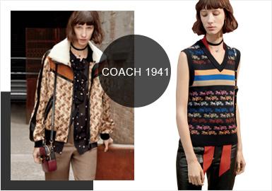 Coach 1941 2020早春系列灵感来自于品?#25340;?#24847;总监Stuart Vevers最喜欢的?#35762;?#30005;影《大都会》和《美国丽人》,并借鉴了当前流行的70年代风格设计了一些剪影,Coach 1941 2020早春LOOKBOOK上展示的服装既不是90年代的电影服装,也不是精心打造的复古装扮,而是将一些时尚界最重要的风格重新展现在一个空间里。