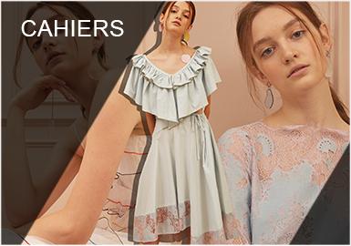 "Cahiers成立于2016年,韩国独立设计师品牌,拥有""韩剧女主角的穿衣哲学""的美称。Cahiers的名字来自法语里的""记事本"",暗示着设计师KUN AYOUNG将不同的设计理念融入在Cahiers的时装中,这里既有极简主义的美学,又有高级定制的审美,既透露着优雅又满溢着女性气质。Cahiers从创立之初,就不寻求追逐潮流趋势,也不寻求迎合许多其他品牌所专注的""千禧一代""或者""Z世代""的需求,而是为成熟的都市女性,打造一种有着专属感和个人风格的摩登衣橱。独特的印花和奢华的面料,穿着舒适、合体最为关键,这正是许多韩剧女主角迷人的地方,精致优雅中透着适从的生活姿态。"