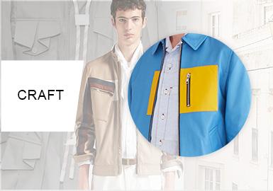 男装必备口袋工艺--男装皮夹克细节工艺趋势