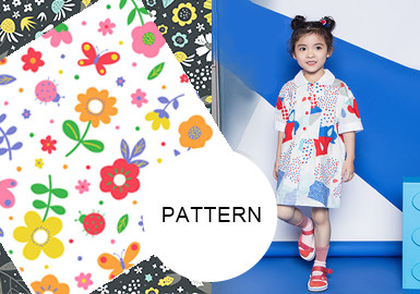 滿版花卉--女童童裝圖案趨勢