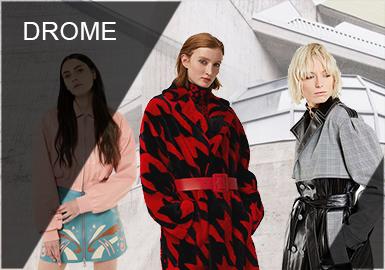 DROMe 是由创意总监 Marianna Rosati 建立的意大利品牌 DROMe 品牌视皮革为核心设计元素,不拘泥于经典,而是给消费者提供更多新颖选择?;谧匀缓托车睦砟?,服装以修身版型为主,色调偏柔和,设计师对所用材料充满热情,并且有着意大利制造的奢华品质。DROMe 就像深思熟虑的冒险家,灵感多来自于自行车赛手。