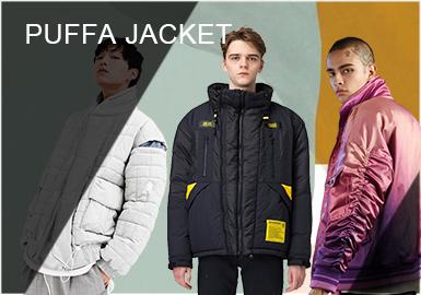 每到秋冬季节棉服、羽绒服便是男装品类中的一个大类,与时尚绝缘的棉服、羽绒服伴随着休闲运动风潮,越来越多的男士开始热衷于它。色彩、款式、版型等方面更加的多样化,工艺方面也得到大大改善,增加了款式的时尚度及层次?#23567;?#26356;加多元化的设计引领棉羽绒单品走向更时尚的领域。