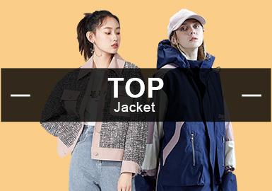 在八月份的夾克款式中,潮牌類型的夾克占據整體的23%呈現出上升趨勢,休閑風格幅度同比上月幾乎持平占比34%,中少淑風格由于粗花呢比率也有小幅度提升。