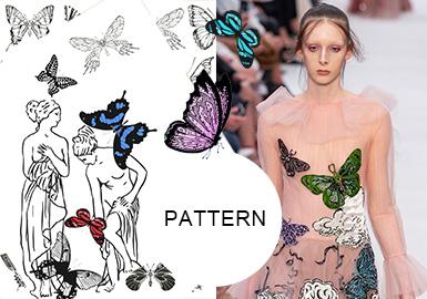 蝴蝶的时尚基因--女装图案趋势