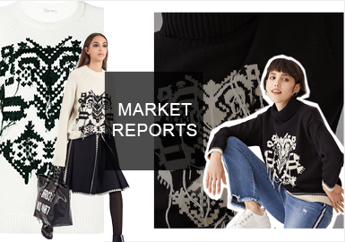民俗風一直是毛衫主要流行趨勢之一,近兩年國際品牌在民俗風的設計上不斷創新。因此也影響了國內一部分的時裝品牌。