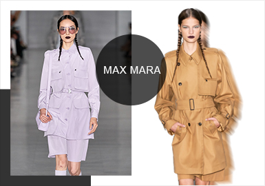 """明年春天,首位女特工007即将与观众见面,本季MaxMara2020春夏成衣的灵感来源,就建立于为女主角设想的衣橱。这种""""邦德式""""的女性优雅,来源于设计师对于新007的赞美。这一季,Max Mara 为我们上演了一出精彩的""""女间谍""""大戏,模特们身穿灰色工装,梳着利落双蝎尾辫,黑红唇色,神秘优雅。"""