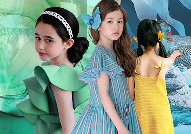 清涼一夏--女童連衣裙色彩趨勢