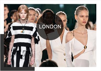 2020春夏倫敦T臺時裝發布會中,展現了更多傳統英式風格設計和前衛的精裁造型,各種風格間界限變得更加模糊化與緊密化,簡歐中淑風格會融入更多藝術、野生、游牧元素,剪裁上呈現褶皺、垂墜、解構等細節更新傳統精裁造型。街頭街潮風格則增加更多星際、自然風景、佩斯利紋樣圖案,工藝細節上蕾絲花邊、羽毛裝飾等更女性化的材質的增加碰撞出特立獨行的新風貌。少淑風格在原有仙氣甜美的基礎上滲入了新維多利亞風情、英式學院風、室內軟裝風格花卉,帶來款式上更加浪漫古典韻味,高領線、長版型和精致疊層設計也在逐漸復蘇。
