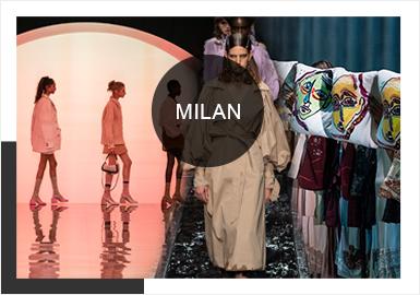 米兰时装周的举办地米兰作为意大利第二大城市,是一个充满着艺术氛围的都市,这也给了米兰时装周奠定了古典文艺氛围和匠心工艺的基础,在2020春夏米兰时装周中,我们将看到这个以未来、艺术、摩登为特色,诠释时尚传递一种表达内心世界的态度的时尚盛宴。