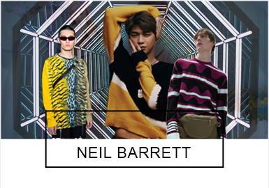 Neil Barrett毕业后作为高级男装设计师在Gucci工作了五年。并且创立了Prada男装系列。随后于1999年创立了个人品牌Neil Barrett并与2000年在时装周首次亮相。Neil Barrett注重新型的材料开发和衣服的舒适性,在设计上保留了品牌特有风格的同时,为了迎合市场需求,品牌款式多样,设计元素和手法新颖有活力。