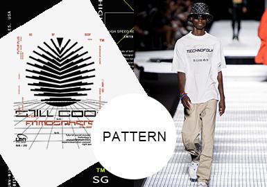 街潮線性圖文--男裝圖案趨勢
