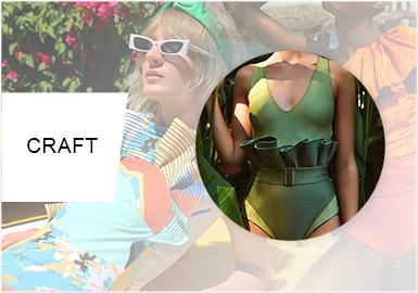 海濱物語--女裝泳裝工藝趨勢