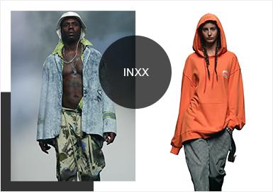 国潮品牌INXX作为潮流男女时装买手集合平台,隶属于香港英涉时装有限公司。于2013年进入内地市场,旗下拥有INXX、INXXSTREETLab、SOPHIESUN、UNROW、Pilgrimage、HAMC等品牌分别对应国际高街潮流、街头潮流两大服装市场,同时亦创立了国际时尚精品买手概念店X CONCEPT STAGE与街头潮流买手集合平台11 STREETLAB,以及主打高端运动潮流风格的品牌INXX SPORTS,旨在为中国潮流爱好者及时尚ICON们提供更多潮流选择。至今为止,INXX已开设了近百家门店。