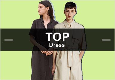 根据POP十月份用户下载量TOP100女装连衣裙数据分析整理,中少淑风格依旧是整个市场的主体,棉麻风格趋势有持续回落,荷叶边、压褶、束腰成为本月占比最多的工艺,图案方面花卉、条纹依旧是占比较多的分类。