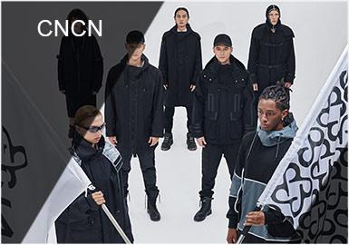 CNCN男装2019秋冬系列新款:CNCN男装2019秋冬系列的诞生源自圣女贞德的一句箴言:为此而生,无所畏惧!上海这座城市作为品牌的起点,始终给设计师团队无尽的灵感,本季CNCN将上海的经纬度与这个城市空间的摄影作品融为一体,数字化、抽象的印花出现在长袖T恤与卫衣的衣袖和胸前。印花与誓言作为本季的主题,贯穿着CNCN对上海这座城市的挚爱。