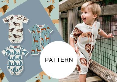 動物大滿版--嬰童服裝圖案趨勢