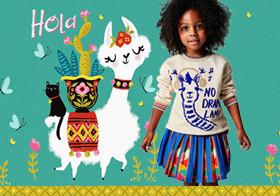羊駝軟綿綿--童裝圖案趨勢