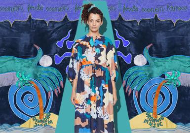 """2020早秋女裝丹麥設計師品牌Stine Goya以瑞典藝術家Moki Cherry異想天開的作品為靈感進行闡述本季系列單品, Stine Goya 在設計理念中一直堅信""""色彩是迷人的、多變的,它可以從華麗的或戲劇性的故事到親密的詩歌""""她堅信藝術世界可以為時尚設計增添額外的層次。因此Stine Goya本季系列幾乎是在原材料上進行色彩的無限混合,創造出新的色調,講述色彩、風格和印刷的個人故事。"""