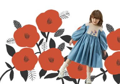 超大色塊花卉集合--童裝圖案趨勢