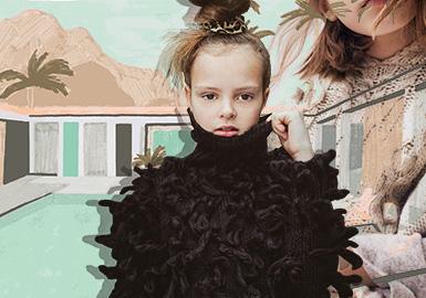 織就冬日暖陽--女童毛衫工藝趨勢