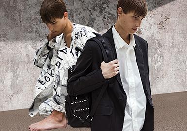 """ALMOSTBLACK 将自身定位为""""后日本主义""""(Post Japonism)品牌,其设计风格淬炼传统日式美学之精髓,打造出朋克风与街头风浓厚的男装系列。 品牌由 Shunta Nakajima 和 Masaki Kawase 两位设计师成立,并于 2015 年起活跃于潮流圈,为二人在国际时尚界的剧本之上抒写诗歌般的经典作品提供了发挥空间。2020春夏系列,以"""" PLAY FORM""""(播放形式)为主题,该系列受到野口勇(Isamu Noguchi)雕塑的启发,该雕塑的创作技巧是""""在弯曲的零件上绘制方格纸,将石头雕刻成零件的形状,然后将它们组合在一起""""的设计,该系列包括印花图案、刺绣夹克以及功能性服饰。"""