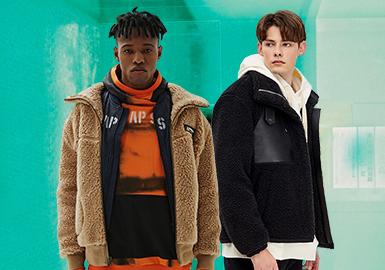暖糯無限延展--男裝絨面夾克廓形趨勢