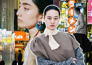 日本市场在秋冬季中风格以暗黑解构棉麻风、日杂风、甜美日系休闲风、原宿风、简约中淑风格等为主流风格,在这一季市场中各风格之间相互独立却共同存在为女装的多元化增加更多亮点。