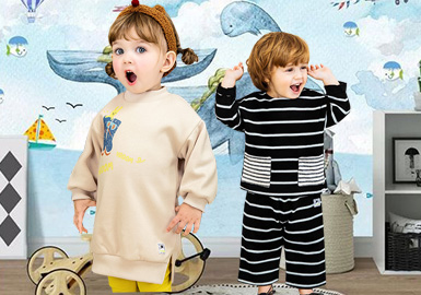 萌趣可爱的韩国童装品牌Pimpollo,在国内一直有着的较高的关注度。本季秋冬新品设计师以不同材质拼接、细节装饰设计迎合了孩子天真可爱的一面。趣味性的动物简笔插画、睡袋款式的设计为本季带来新的趣味体验。