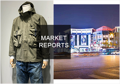 2019秋季杭州男裝批發市場已經全面上新,而此篇內容款式主要來源于杭州置地國際男裝服裝批發市場。整體男裝風格以時尚機能、工裝風格為主。男裝設計重點越來越注重突出細節,在工藝上多以拼接設計為主,刺繡多表現在文字運用上。單品類則以夾克、衛衣為主。