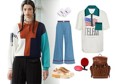 复古运动风潮--女装毛衫组货搭配
