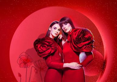 华灯倾城红--女装礼服主题色彩趋势
