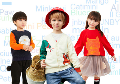 針對2019年童裝零售市場品牌關注數據進行整理,相較上半年度快時尚品牌Zara關注度上升,升至第一位。韓國品牌關注度波動不大,其中中國品牌GXG.kids、M.Latin上升趨勢明顯,國產品牌的關注度越來越高。