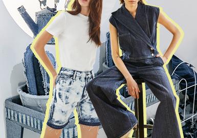 復古回潮--女裝牛仔褲廓形趨勢