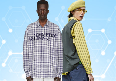 根据POP1月份用户下载量的TOP100男装衬衫数据分析,时尚休闲风格占据主导地位,其次是商务时尚款式相比以往也更加的能够融入日常生活。廓形上面,修身、款式以及短袖设计是设计重点。另外格纹、条纹以及时尚感印花依旧是重点的设计元素。