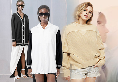"""融为""""衣""""体--女装毛衫拼接工艺趋势"""